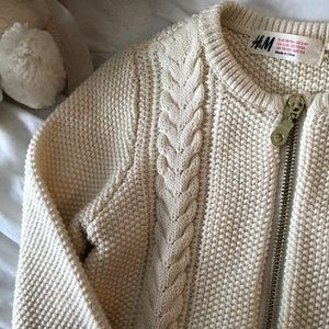 H&M girl zip sweater 2-4y